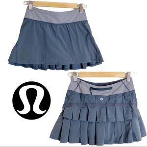 Lululemon Pace Setter Skirt, Gray Size 2 (flawed)
